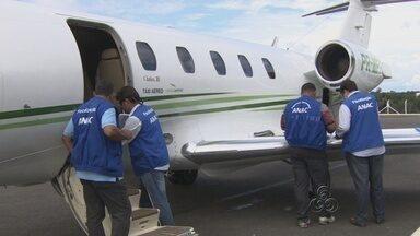 Anac fiscaliza aeronaves em a aeroporto de Manaus - Inspetores vistoriam condições de segurança de médio e pequeno porte do Brasil e do exterior