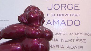 """Timbó confere a exposição """"As Mulheres de Jorge e o Universo Amado"""" - Ele conversa com as artistas plásticas Eliana Kertz e Maria Adair"""