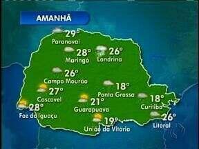 Previsão do tempo - Voltou a chover forte na região de Curitiba.