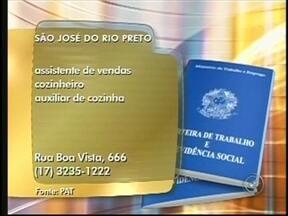 Confira as vagas de emprego disponíveis na região noroeste paulista - Confira as oportunidades de emprego oferecidas em três cidades da região de São José do Rio Preto (SP) nesta segunda-feira (17). São oportunidades em diversas áreas. Confira.