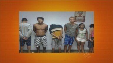 Polícia prende cinco pessoas suspeitas de assaltos em Manaus - Suspeitos foram identificados após um assalto na Zona Norte da capital.Entre os suspeitos há uma mulher de 40 anos.