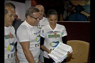 Marina Silva vem a Belém recolher assinaturas para a formação de partido político - Confira na reportagem de Márcio Lins.