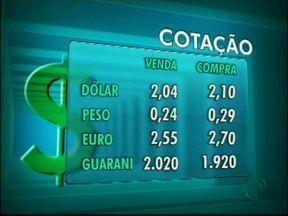 Confira a cotação das moedas nas casas de câmbio de Foz - O dólar vale R$ 2,04 na venda e R$ 2,10 na compra.