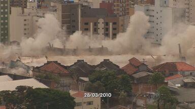 Implosão de antiga Rodoviária de Campinas completa três anos - A implosão da antiga rodoviária de Campinas (SP) completa três anos na sexta-feira (28). O terreno que abrigava o terminal segue sem uso desde então e preocupa moradores da área.