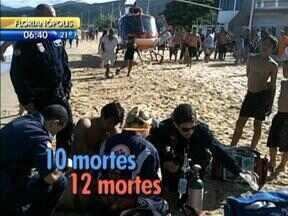 Corpo de Bombeiros divulga balanço da Operação Veraneio, nas praias catarinenses - Corpo de Bombeiros divulga balanço da Operação Veraneio, nas praias catarinenses