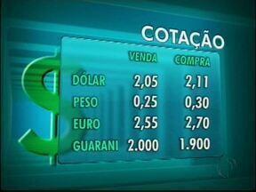 Confira a cotação das moedas nas casas de câmbio de Foz - O dólar vale R$ 2,05 e R$ 2,11 na compra.