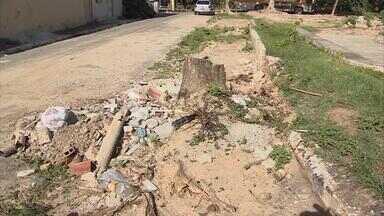 Obras do calçadão do bairro Vila Social, no Cabo, continuam paradas - Três meses se passaram e nada mudou no local. É cobrança do Calendário NETV.