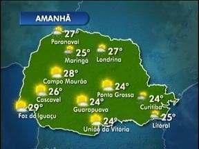 Tempo seco predomina até domingo - A partir de segunda-feira, pancadas de chuva voltam a ser previstas.