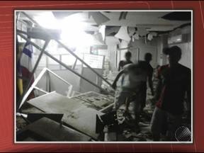 Bandidos explodem agência do Bradesco da cidade de Abaré, no Norte da Bahia - De acordo com testemunhas, os assaltantes estavam armados com pistolas e fugiram em um carro.
