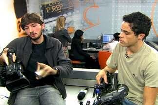 Repórteres dão dicas de filmagem em novo quadro do site - Os repórteres cinematográficos Felipe Bentivegna e e Rafael Batista tiram dúvidas sobre imagens em novo quadro exclusivo do site.