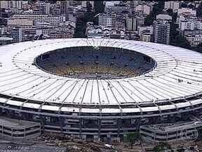 Maracanã tem 95% das obras prontas - Cobertura tem quase 70 metros de comprimento, mais que o dobro da antiga. Estádio está com 95% das obras concluídas e a previsão de entrega está marcada para o dia 27 de abril.