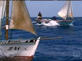 Vento - Direção dos ventos é fundamental para navegar em embarcações à vela. Pescadores cruzam litoral do RN em veleiros.