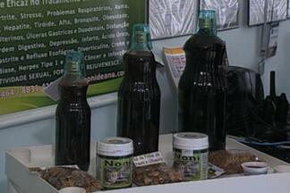 Os beneficios para a saúde do suco da fruta Noni - A fruta é vendida no Mercado Central de João Pessoa.