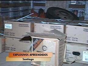 Quase 300 kg de explosivos são apreendidos em Santiago, RS - Material era transportado em um caminhão sem documentação exigida pelo Exército.