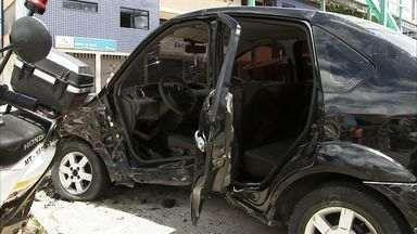 Em Fortaleza, acidente deixa feridos no Bairro de Fátima - Acidente aconteceu neste domingo.