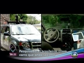 Ana Maria chega ao Mais Você em carro que anda sem motorista - Novidade foi desenvolvida por estudantes da Universidade Federal do Espírito Santo