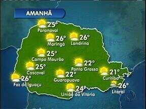 O tempo será instável nesta quarta-feira em Curitiba - Deve garoar, mas tambpem faz sol.