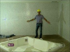 Mais Você mostra camarotes, banheiros e vestiários do Maracanã - Novos vestiários têm até banheiras de hidromassagem