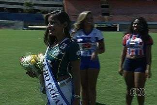 Hélika Rios é eleita Musa do Goianão 2013 - Representante do Goiás receve 43% dos votos e conquista coroa. Gisele Esrael, do Goianésia, e Herica Cristina, do Vila Nova, fecham o pódio.