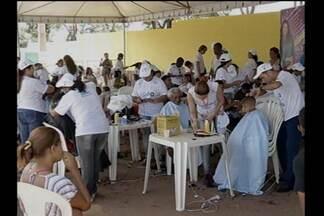 Milhares de pessoas são atendidas pelo Ação Global neste sábado - Ação foi na cidade de Parauapebas.