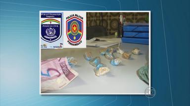 Dois homens são presos com crack no Sertão - Eles estariam transportando a droga de Cabrobó para Salgueiro. A dupla tinha 57 gramas de crack.