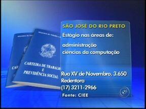 Confira as vagas de emprego divulgadas na região de Rio Preto, SP - Diversas empresas da região noroeste paulista oferecem oportunidades de trabalho. Confira as vagas divulgadas no Tem Notícias desta terça-feira (28) e saiba para onde enviar o seu currículo.
