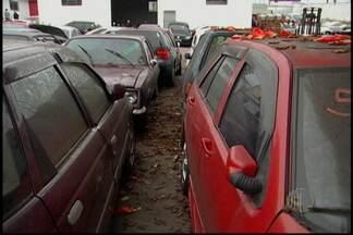 Leilão com mais de 700 veículos reuniu compradores em Suzano - O leilão no pátio da Casa Branca em Suzano foi realizado nesta terça-feira (28). Com a venda dos veículos, a expectativa é de que o local tenha mais espaço e segurança.