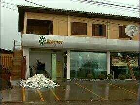 Bandidos explodem caixa eletrônico no distrito de Sede Alvorada - Foi a segunda explosão na mesma agência, em menos de seis meses.