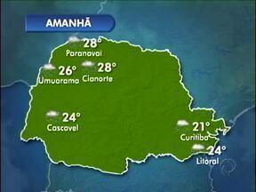 Previsão de mais chuva para esta quarta-feira - Uma nova frente fria passa pelo Paraná e provoca mais chuva nesta quarta-feira (29).