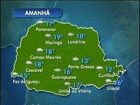 Veja como fica o tempo nesta quarta-feira - O mapa mostra chuva forte em todas as cidades.