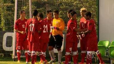 Seleção do Taiti perde por 1 a 0 jogo-treino contra os reservas do América-MG - Os jogadores do Taiti se destacaram pela cordialidade.