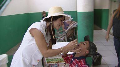 Cidades da região realizam campanha de vacinação - Crianças foram vacinadas contra paralisia infantil