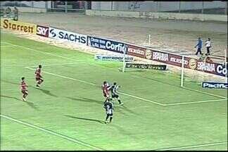 Luiz Henrique manda chute perto do gol de Leandro e quase faz segundo do Ceará - Luiz Henrique recebe na entrada da área e toca de leve. A bola passa perto do gol de Leandro, assustando o time do Boa Esporte, no Estádio Domingão