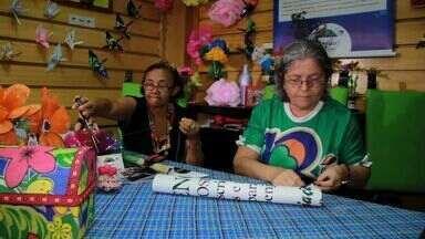 Grupo ensina o descarte correto de lixo - Aprenda mais essa lição com o Nosso Ceará.