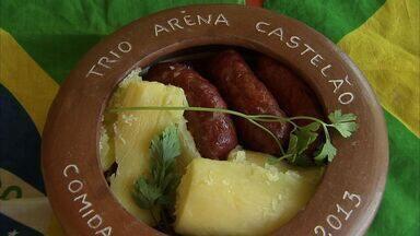 Aprenda a receita de linguiça com macaxeira - Prato Arena Castelão foi inspirado nas competições de futebol que Fortaleza vai sediar