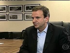 Eduardo Paes fala sobre manifestações no Rio - O prefeito do Rio, Eduardo Paes, comenta as manifestações contra o aumento das passagens de ônibus.