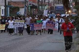 Timon é palco de mais um protesto no Maranhão - Os manifestantes reclamaram principalmente do transporte.