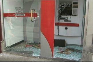 Terminal eletrônico é destruído no Sul do ES - Crime aconteceu de madrugada. Ninguém foi preso.