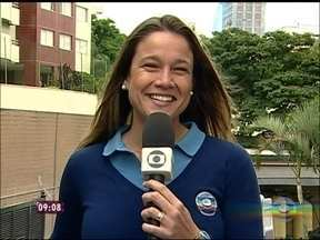 Repórter Fernanda Gentil conta que namorada de Fred é morena e estava com o pai do jogador - Direto do hotel em Belo Horizonte, ela adianta ainda os próximos compromissos da Seleção Brasileira