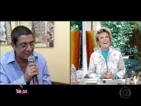 Ana Maria mostra Zeca Pagodinho se arrumando no camarim do Mais Você - Cantor, que está comemorando 30 anos de carreira, também vai dar receita de canja de galinha no programa