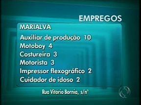 10 vagas de auxiliar de produção são oferecidas na Agência de Marialva - Marialva:Auxiliar de produção 10Motoboy 04Costureira 03Motorista 03Impressor flexográfico 02Cuidador de idoso 02