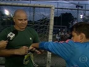 Filhos de ex-atletas do Fluminense seguem passos dos pais, e começam na escolinha do clube - Crianças de Jéfferson, Magno Alves, Beto e Marcão estão entre os atletas mirins.