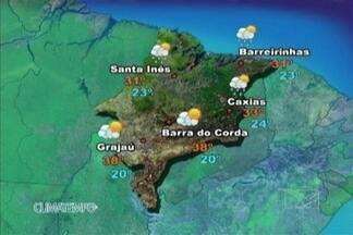 Veja como fica a previsão do tempo para esta terça-feira (9) - O sol predomina sobre o maranhão nesta terça-feira. Apenas em São Luís e nas praias do estado o céu fica cheio de nuvens carregadas que provocam chuva a qualquer hora do dia. Não há previsão de chuva no sul maranhense.