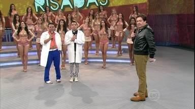 Saco de Risadas apresenta o talento de Tirulipa e Papudim - Dupla diverte o público do Domingão, assista