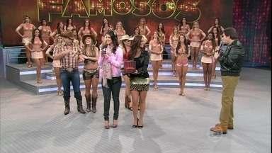 Faustão faz sorteio e Edílson vai dançar primeiro para o desempate - O ex-jogador e o ator Daniel Boaventura competem uma vaga do Dança dos Famosos