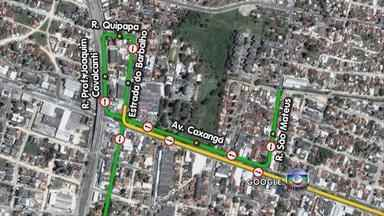 Trânsito sofre mudanças na Avenida Caxangá, na Zona Oeste do Recife - Cruzamento com a Rua São Mateus será interditado e será preciso fazer giro de quadra retornando pela Estrada do Barbalho.