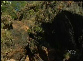 Cachoeiras de Natividade (TO) estão secas por causa da estiagem - Cachoeiras de Natividade (TO) estão secas por causa da estiagem
