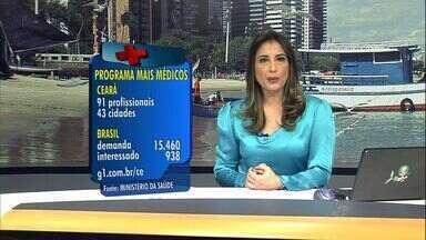 Ceará é o estado brasileiro que mais vai receber profissionais do Mais Médicos - Profissionais serão distribuídos em 43 cidades.