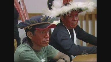 Líderes indígenas de Ji-Paraná, RO, contestam morte de um homem dentro da reserva - Líderes da aldeia Gavião contestam morte de um homem dentro da reserna indígena.