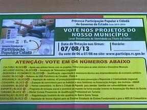 Começa votação de prioridades de recursos para o RS - Escolha é on line e em urnas.